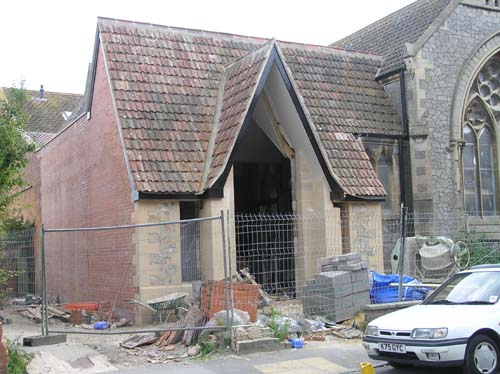 17/7/08 The roof is now tiled and the scaffolding is down.
