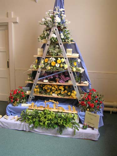One of the flower displays at the Flower Festival.